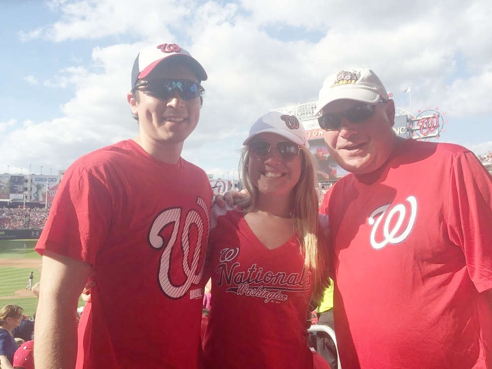 Seeing a Nationals game with my dad.