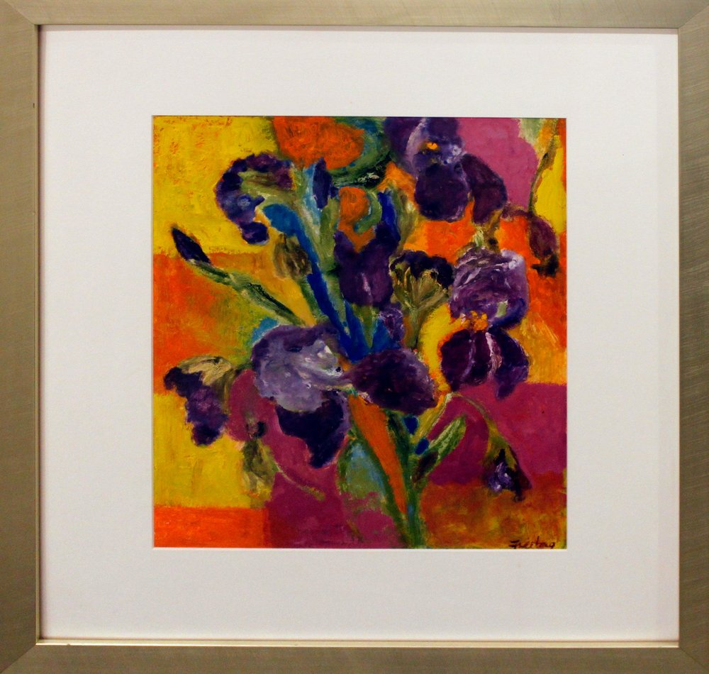 Iris Abstraction (Framed)