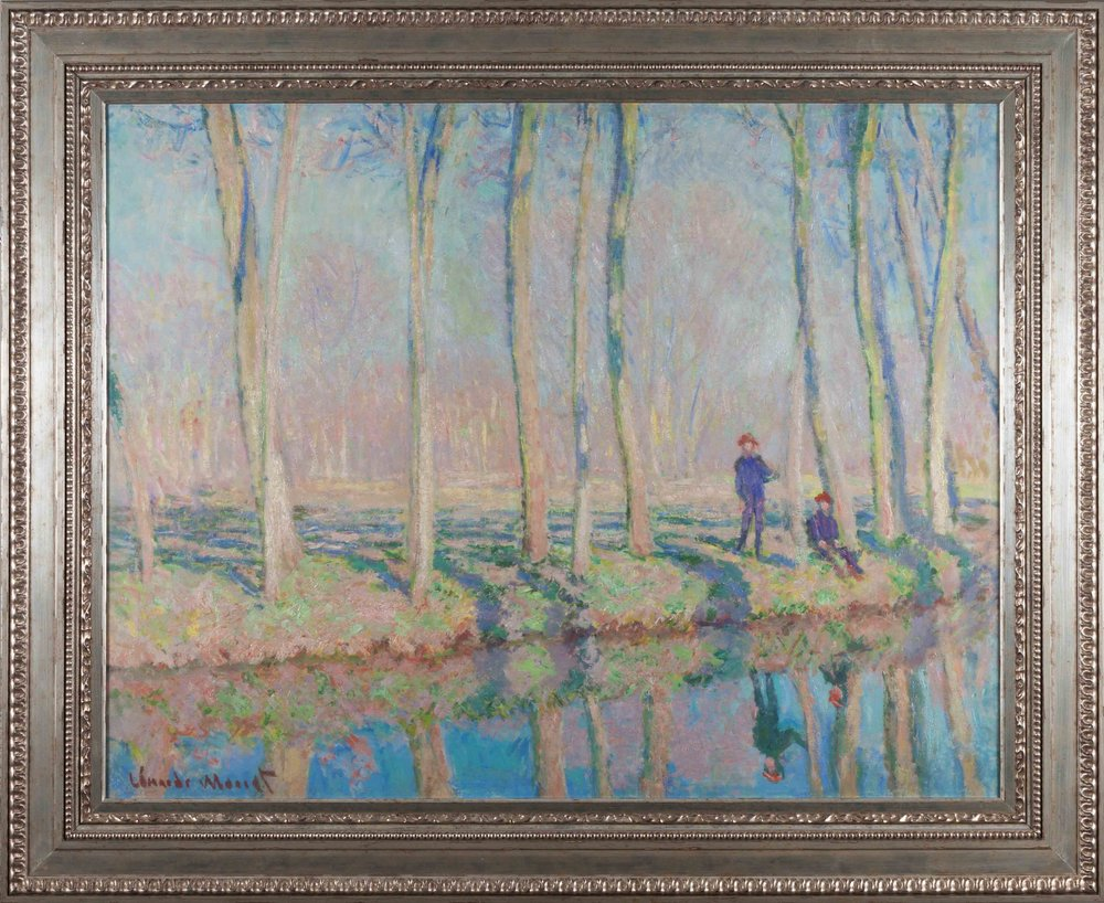 Jean-Pierre Hoschedé and Michel Monet on The Banks of The Epte