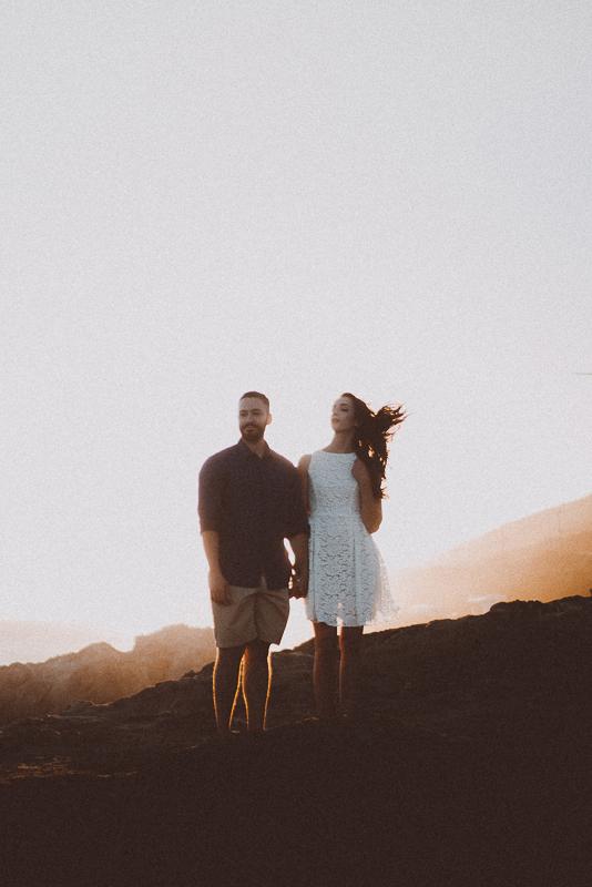 Sun-Kissed Malibu Beach Engagement - Rachelle and Dominic