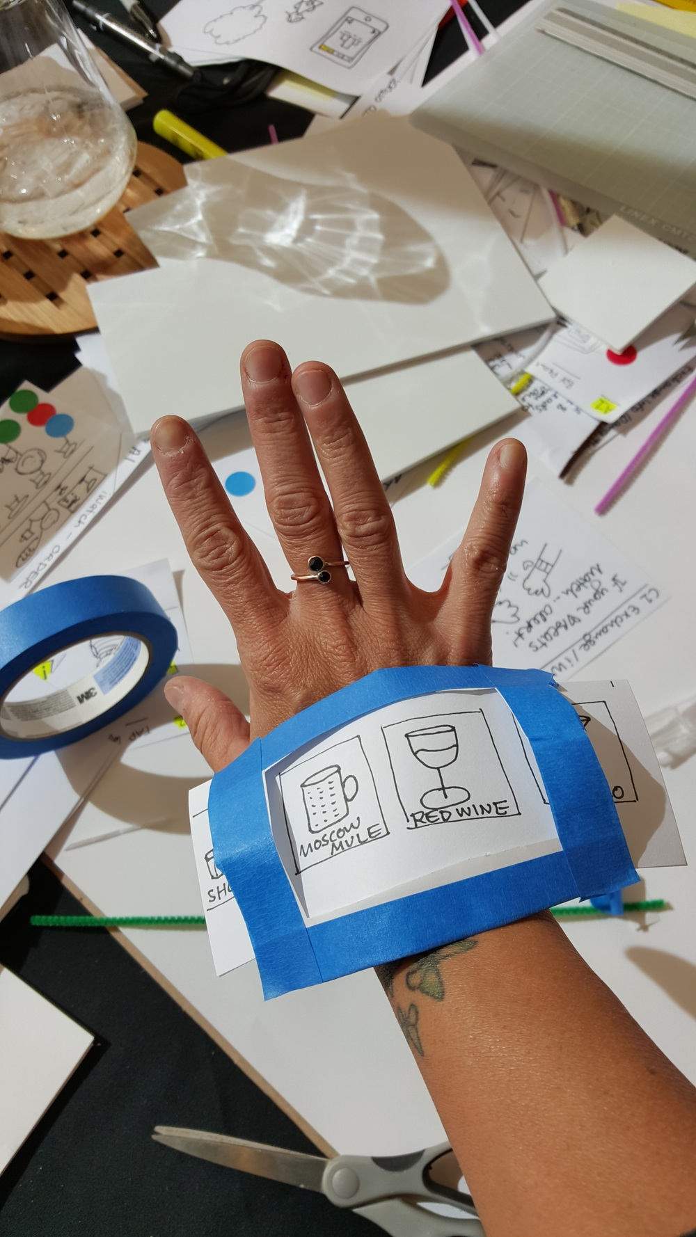 Rapid prototyping often include creating things from paper. The point is to quickly understand if an idea is a yey or a ney.