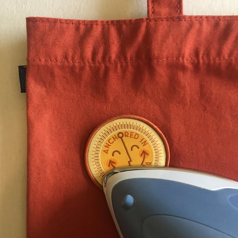 Place patch and iron for 10-20 seconds, keeping the iron moving. Turn over and iron for another 20-30 seconds.