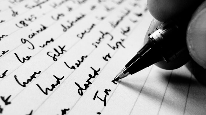 We always write our reviews in ink first with a smart pen....