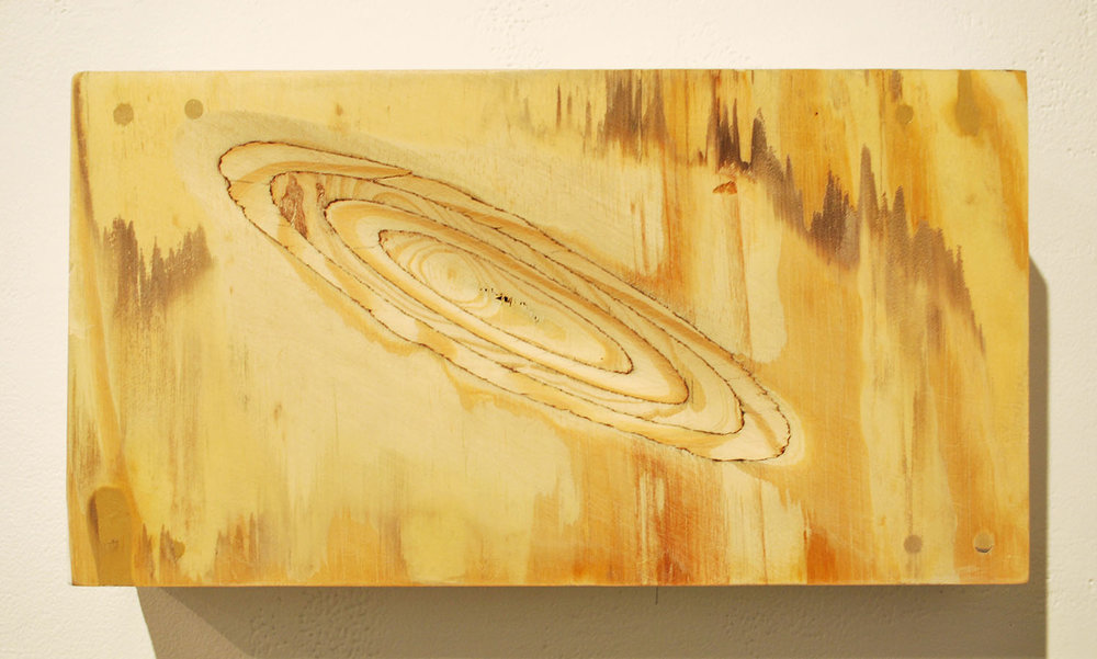 "Leíansi Study   2015  self-leveling gel on plywood  10"" X 18"""