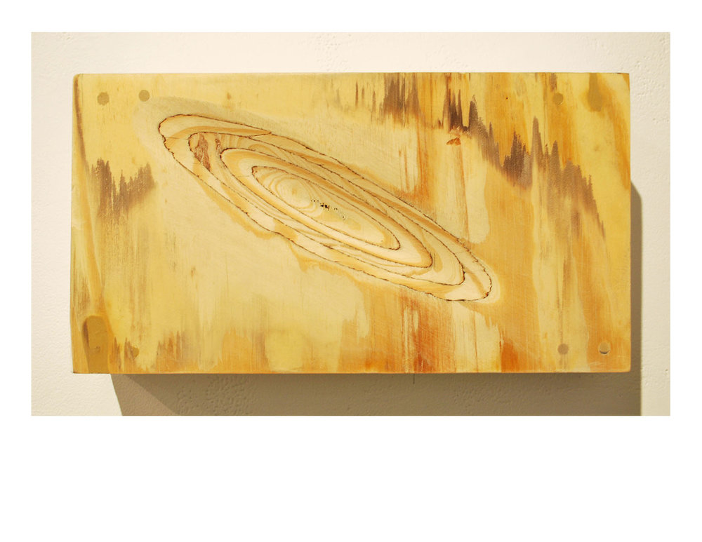 "Leíansi   2015  self-leveling gel on plywood  10"" X 18"""