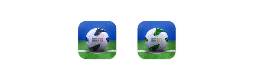 These were the app icons I designed for the football apps
