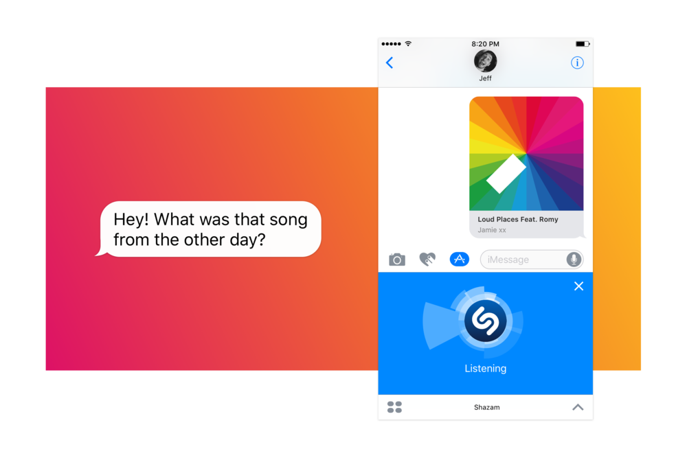 Shazam for iMessage was introduced in Sept 2016 and became another great way for Shazam to integrate into iOS devices and expand our reach.   Read more here