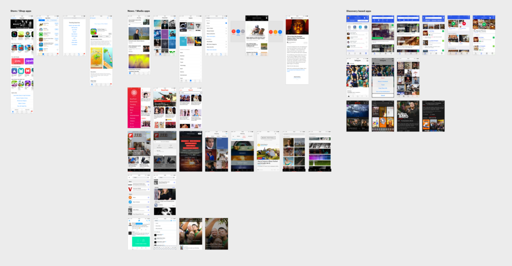 Moodboards I created with some competitor and inspiration analysis.