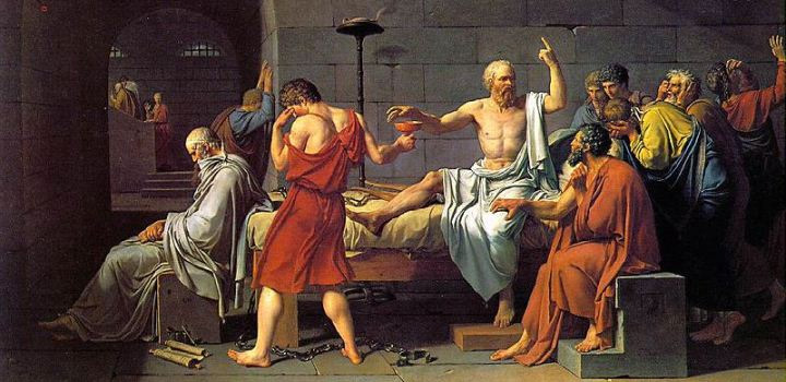The Death of Socrates, by Jacques-Louis David, 1787