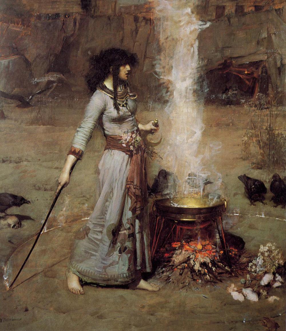 John William Waterhouse -  Magic Circle , 1886