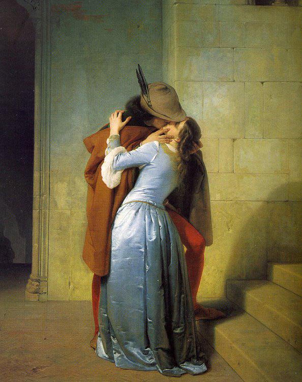 Francesco Hayes,  The Kiss , 1859
