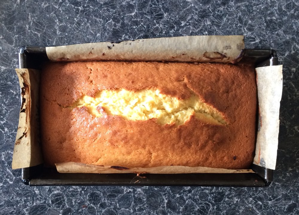 Orange and Passion Fruit Loaf Cake