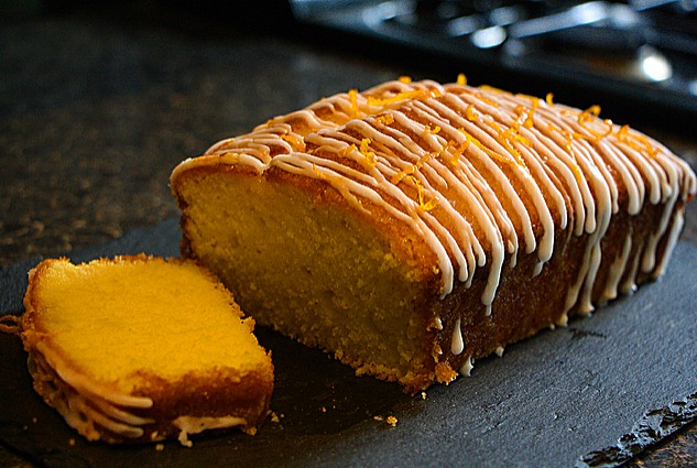 Orange and Passion Fruit Drizzle Cake