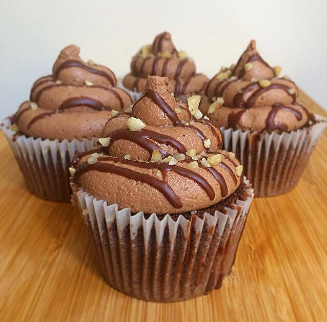 Nutella Stuffed Chocolate Cupcakes