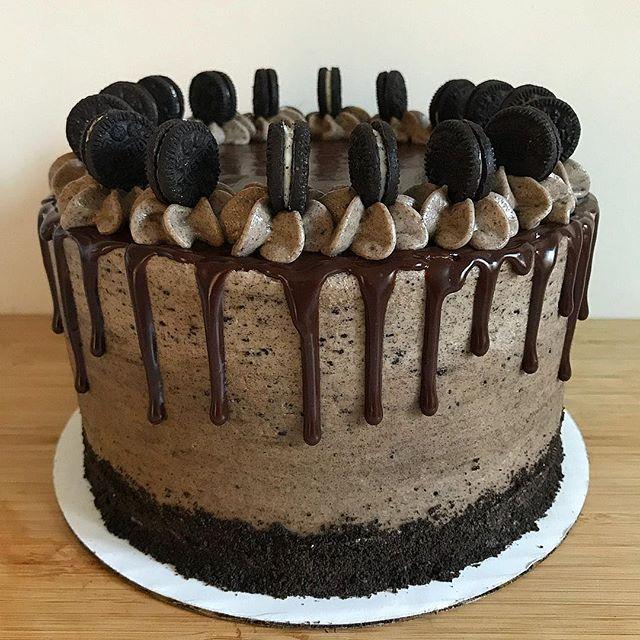 Oreo Cake #baking #oreo