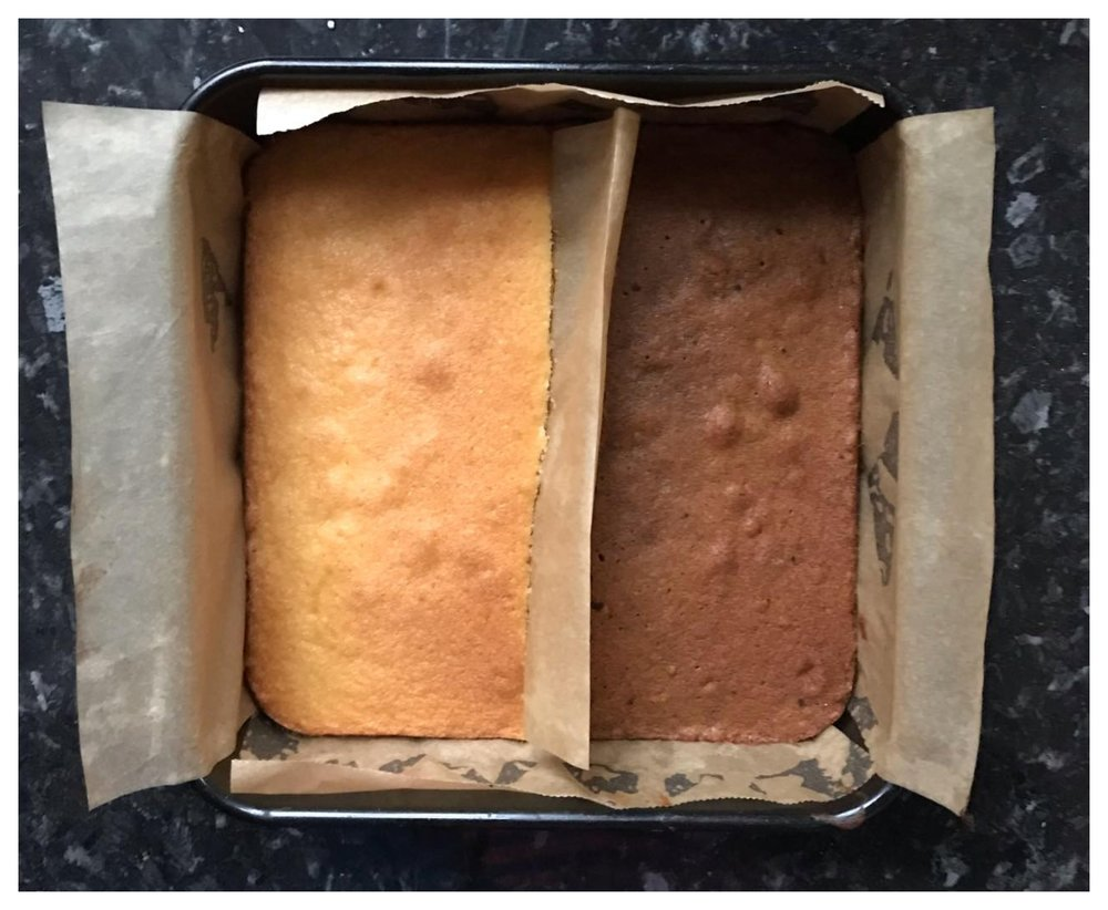 GBBO Technical Challenge S2W1 -  Coffee and Walnut Battenberg Cake