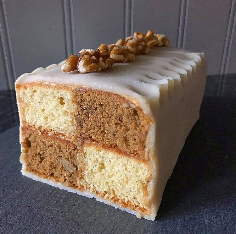 GBBO Technical Challenge S1W2 - Coffee and Walnut Battenberg Cake