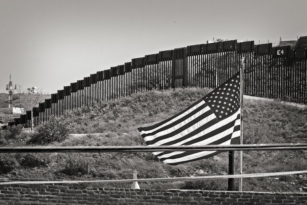 American Flag on the Border RT 93