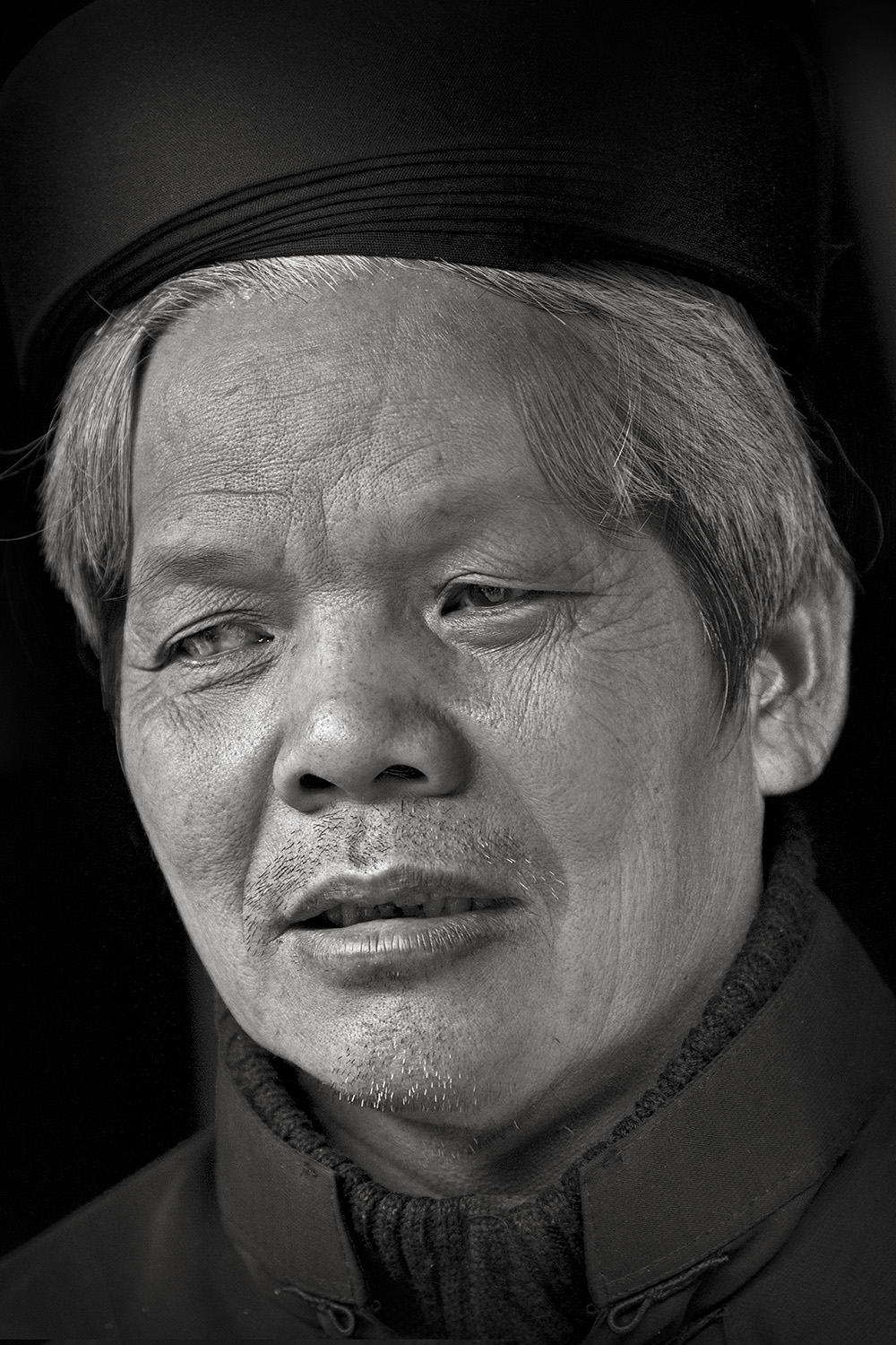 Blind Temple Custodian, Hanoi, Vietnam