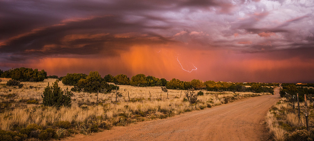 Sunset Lightning Storm, Galisteo, New Mexico