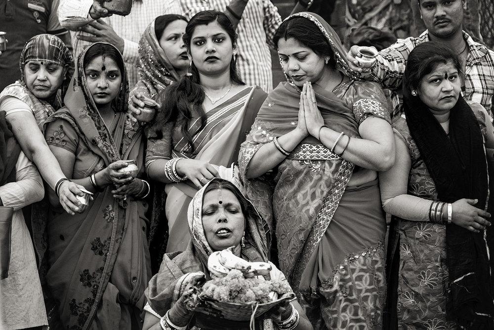 Women During Fertility Festival, Ganges River, Varanasi, India