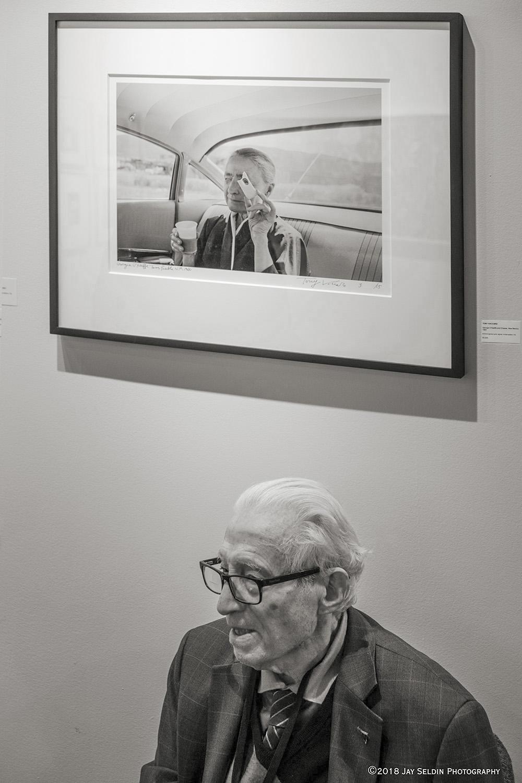 Tony Vaccaro with photo of Georgia O'Keeffe