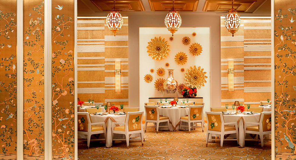 The length of these Ormolu II Sconces was elongated for Roger Thomas and Wynn Las Vegas.