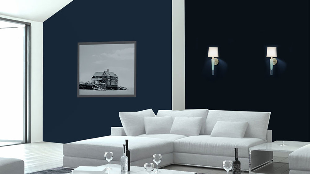 Grasse Sconce_white in living room