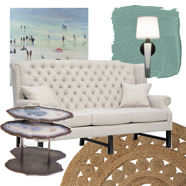 Grasse Sconce_blue living room mood board
