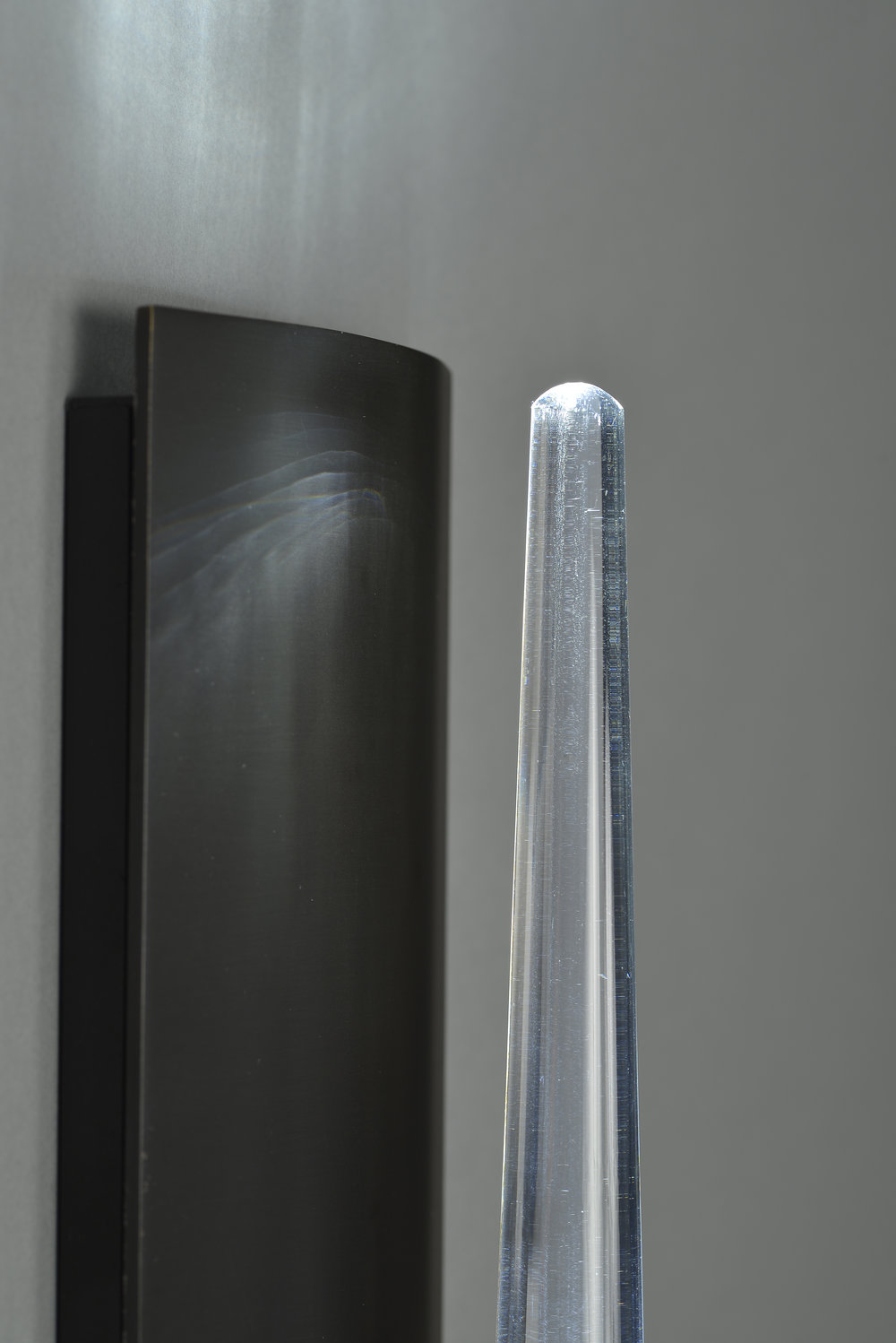 Icicle Wand Sconce_Blackened Brass_Clear Glass_Boyd Lighting