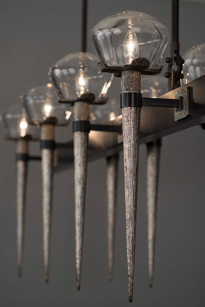 Comet Chandelier by HTK Designs for Boyd Lighting