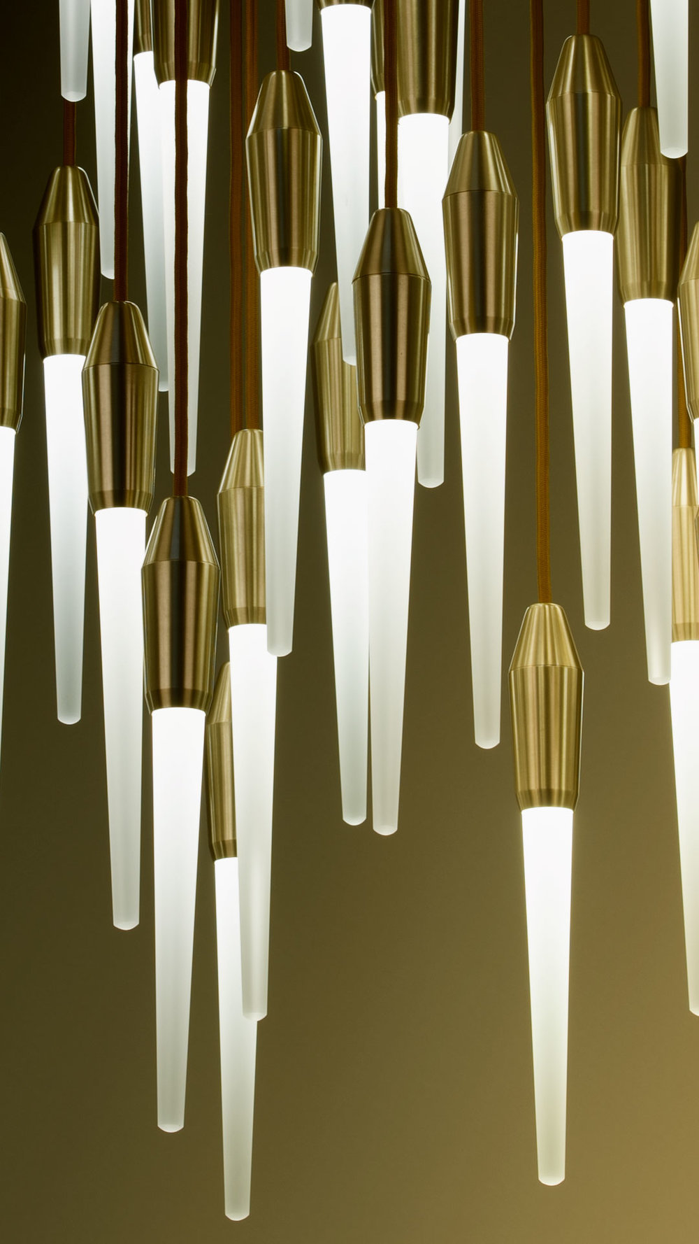 Icicle LED Series - Ceiling Fixtures and SconcesClear or Etched Glass IciclesMultiple Cord Colors and Finish Options
