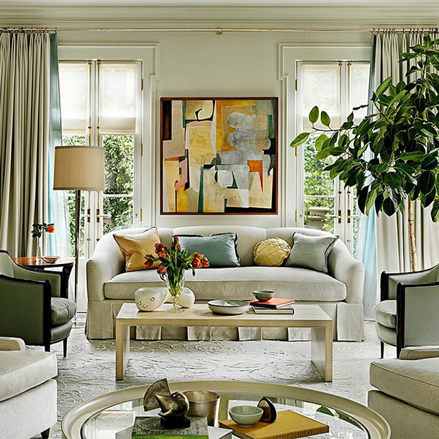 Pacific Heights Floor Lamp  Interior Design: Barbara Barry  Photo:  One Kings Lane Instagram