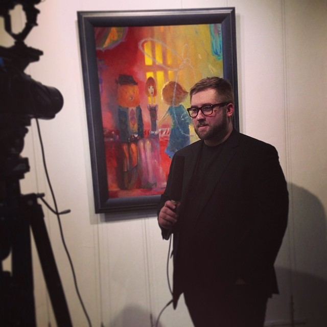 Mr. Langley being interviewed at the AFA Gallery in Soho, New York, March 2014