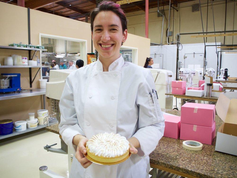 So so so so so happy. Also the lemon meringue tart was delicious.