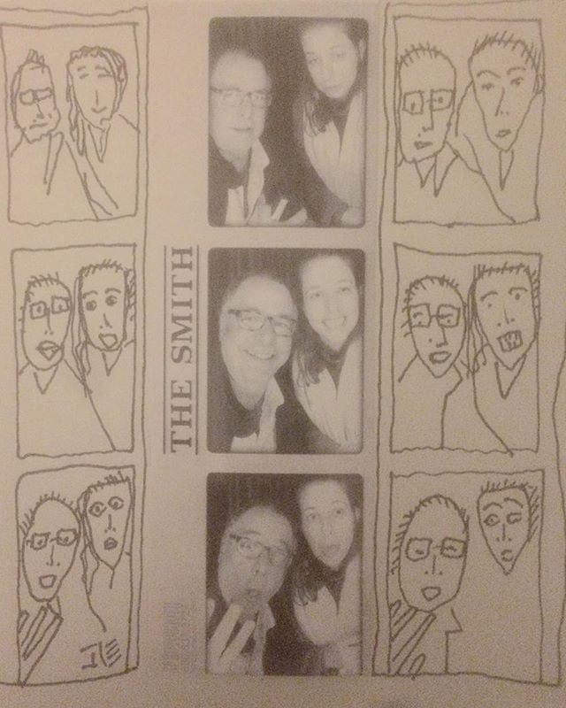 #akoz and #me @thesmithrestaurant #bathroom #photo #booth #barrykostrinskyphotography #barrykostrinskydrawing #art #cartoon