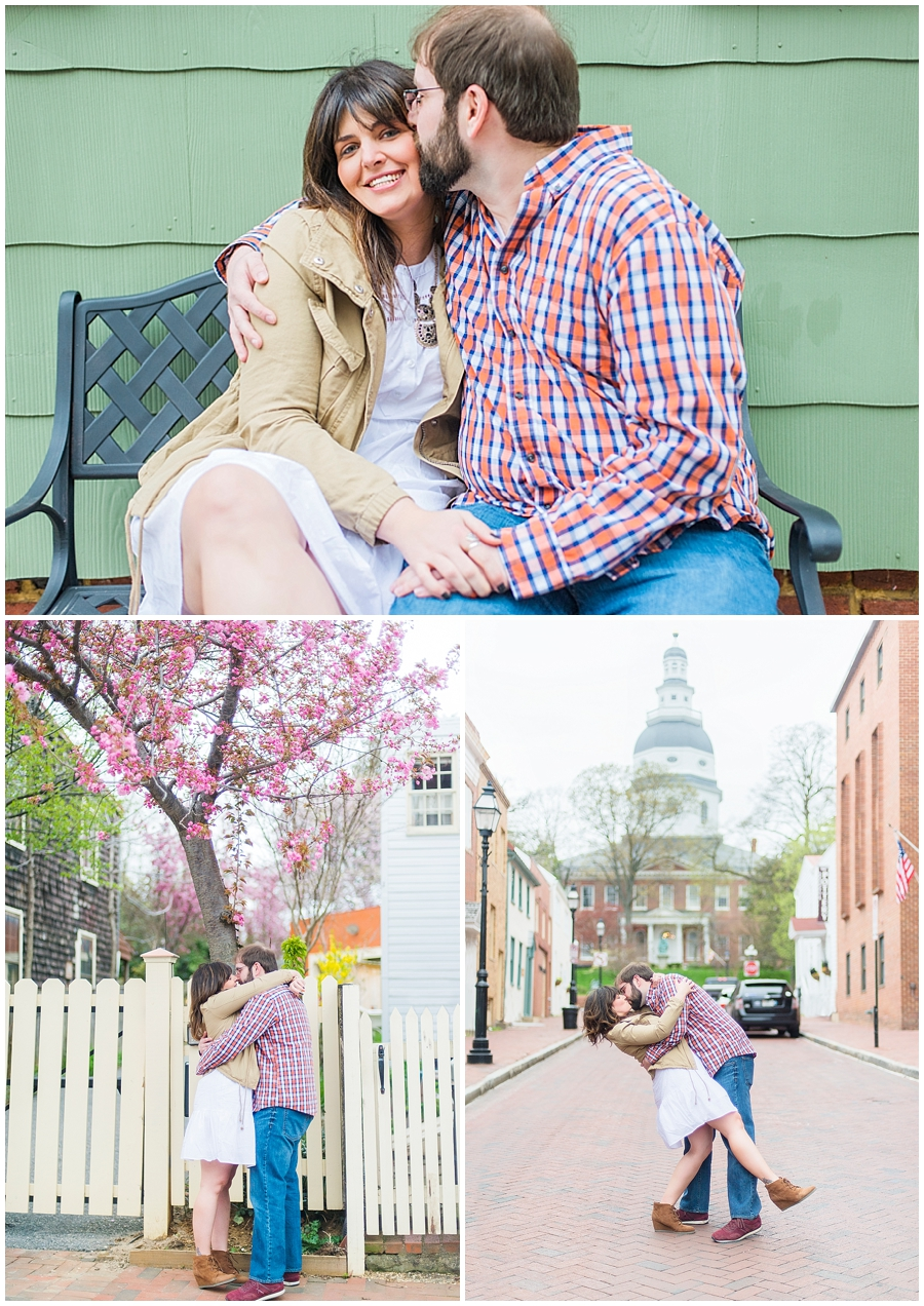 Spring Downtown Annapolis Engagement Photos Katie Vee Photography