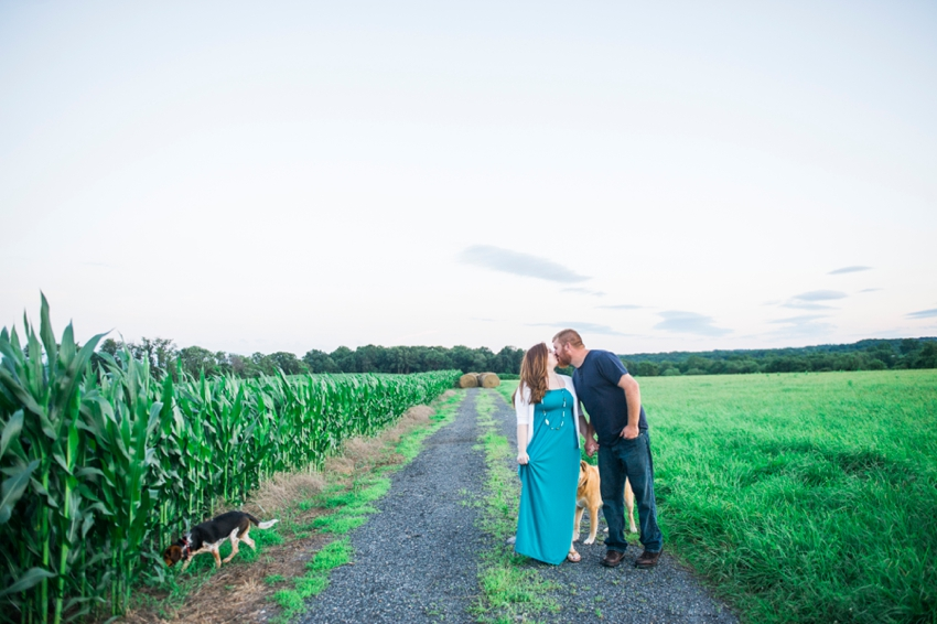 Countryside Engagement Portraits Farm Howard County Maryland Katie Vee Photography