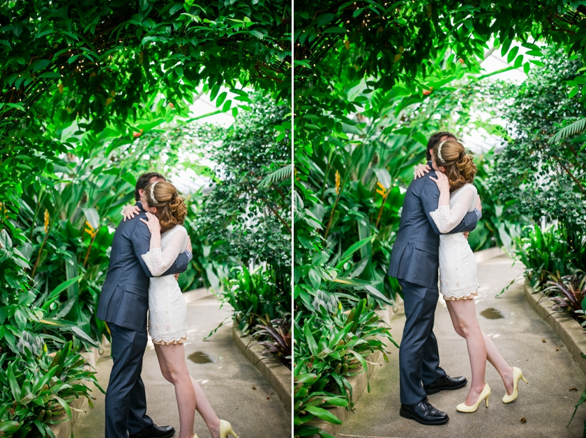 Baltimore MD Wedding Rawlings Conservatory Romantic