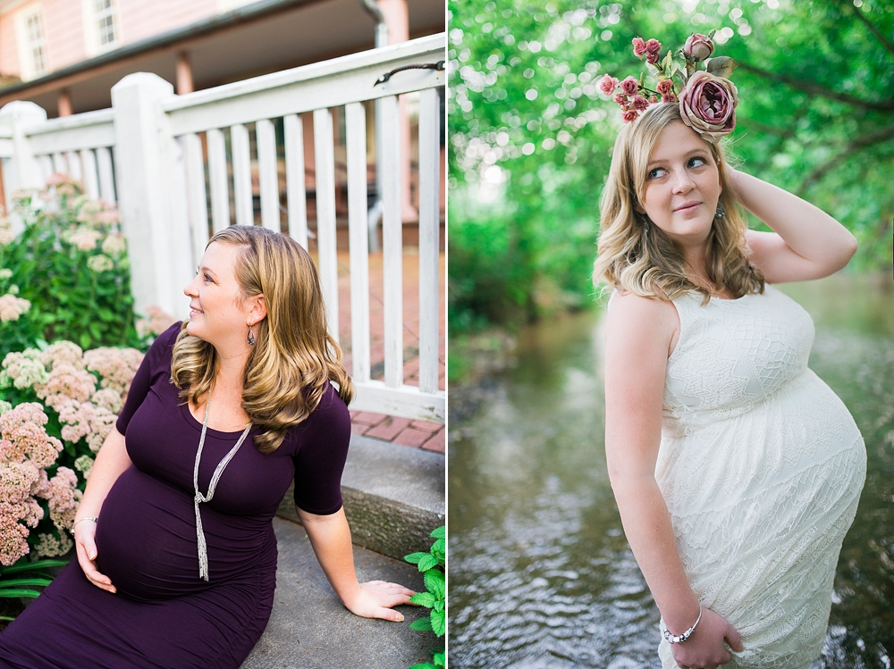 Gorgeous Outdoor Sunny Romantic Maternity Portraits Union Mills Homestead Westminster Maryland
