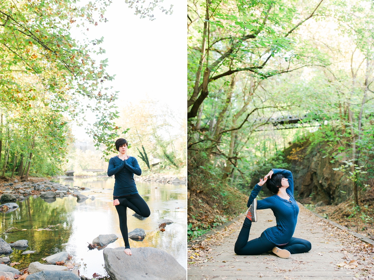 Yoga Portraits of Ariel Wickham in Ellicott City MD by Katie Vee Photography