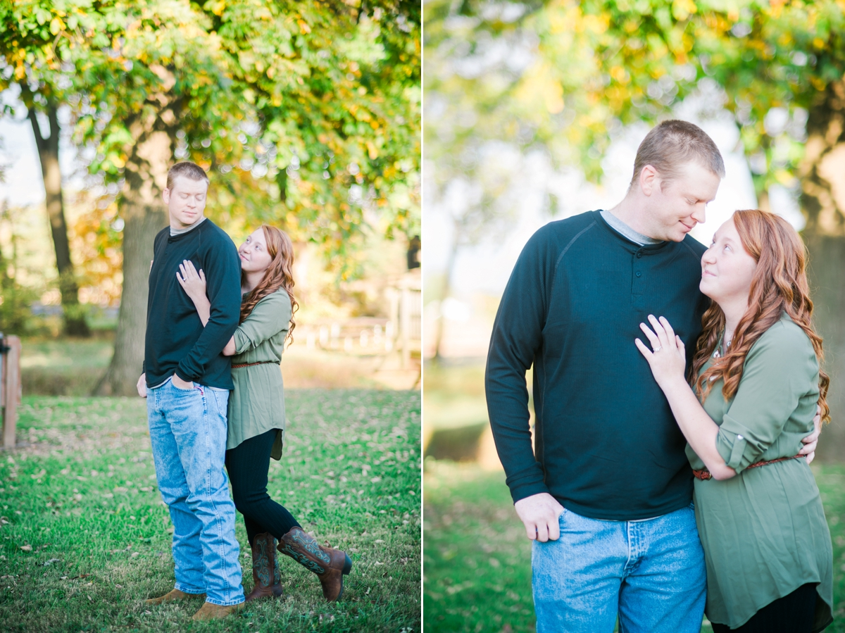 Sunny Engagement Portraits at Loys Station Park and Private Farm