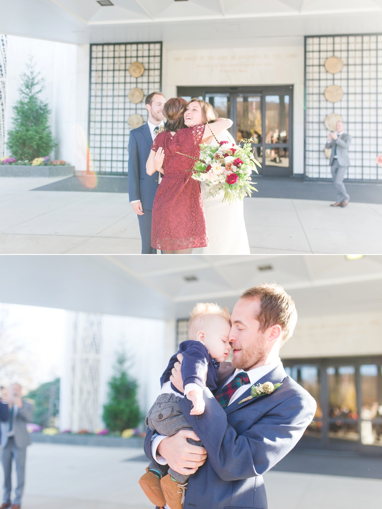 Romantic Fall Mormon Wedding at LDS Temple in DC by Katie Vee Photography