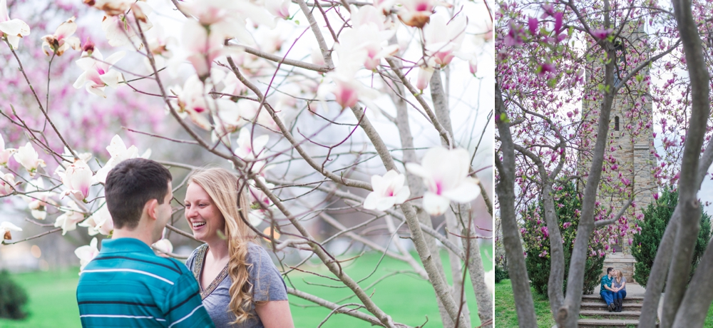 Romantic Engagement Portraits by Katie Vee Photography in Downtown Frederick MD