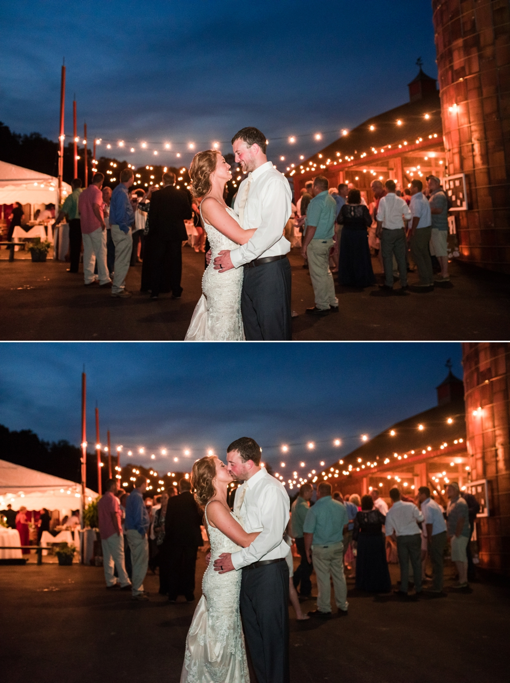 Romantic Farm Barn Wedding Rustic Chic Westminster Maryland Katie Vee Photography