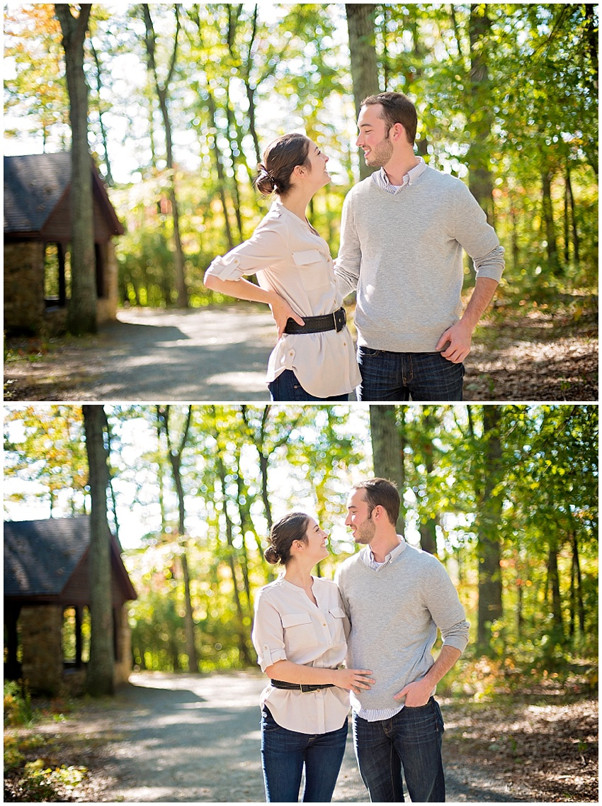 Fall Andover Massachusetts Forest Outdoor Couple Engagement Portraits Katie Vee Photography Baltimore MD Photography Maryland