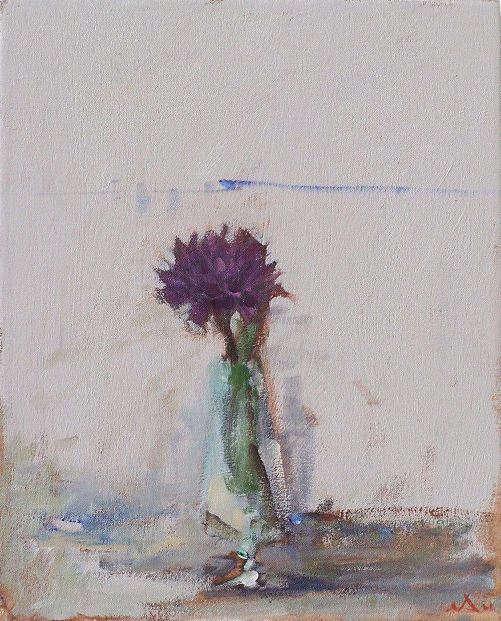 """Purple Dahlia  16"""" x 12"""""""