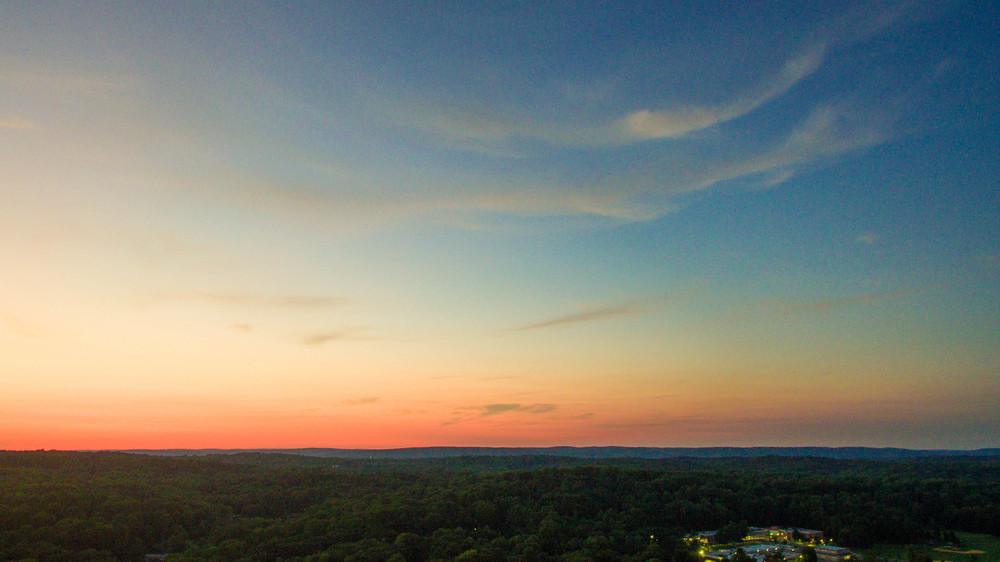 A beautiful summer sunset over the Somerset Hills of New Jersey.