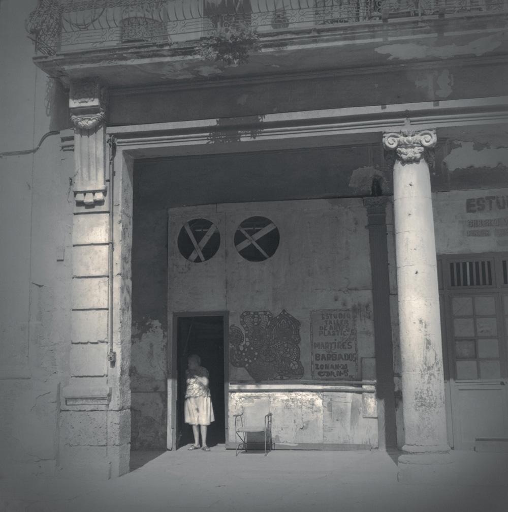 Woman in doorway, 2003