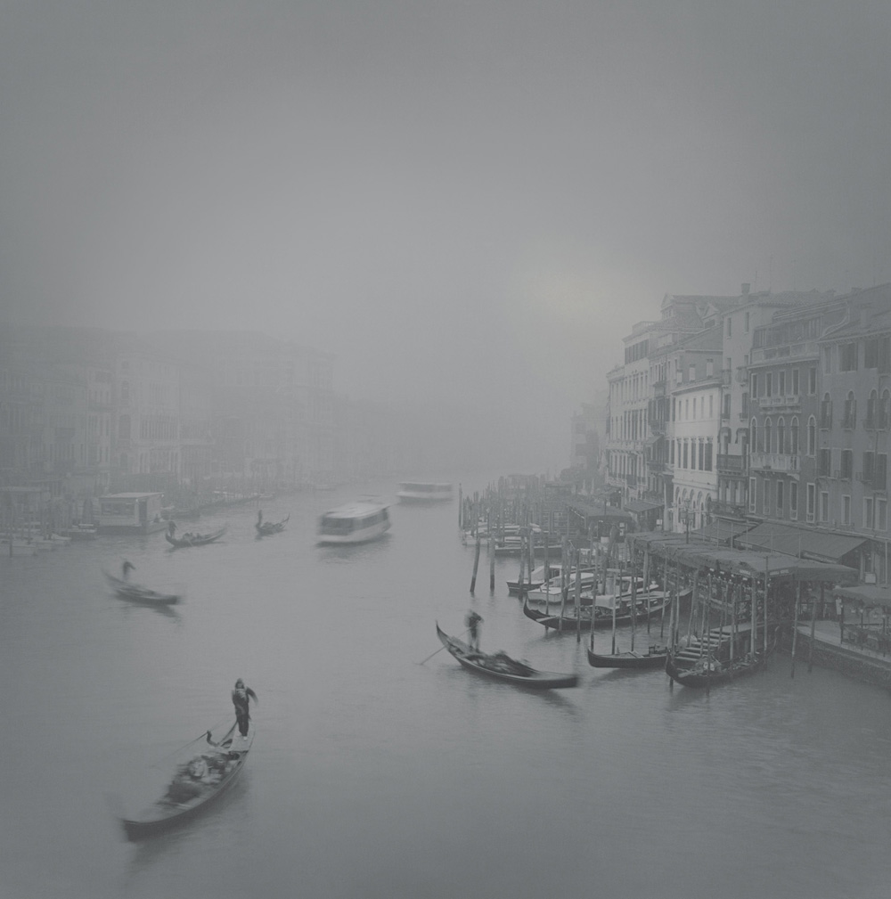 Grand Canal in fog, Rialto, 2007